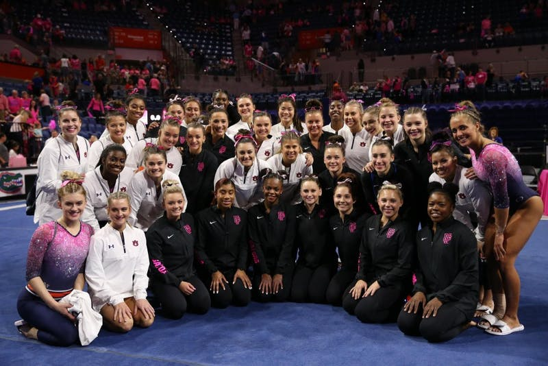 No. 12 Auburn gymnastics loses to No. 2 Florida in Gainesville, Fla., on Feb. 8, 2019.
