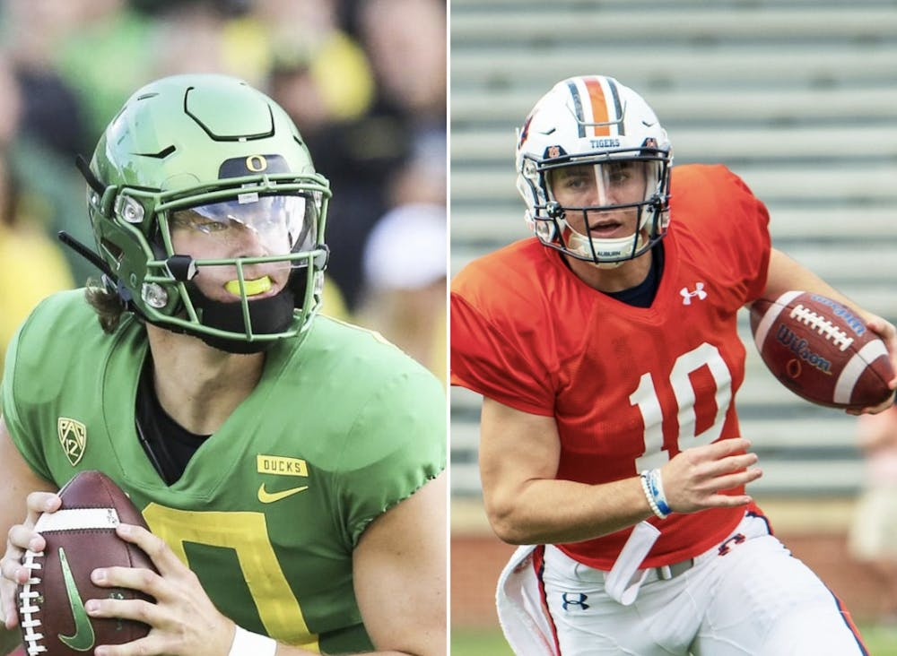 Duel of the fates: Auburn confident Bo Nix plays up to level of Heisman hopeful Justin Herbert