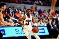 Jared Harper (1) drives the ball down the court during Auburn Men's Basketball vs. North Florida on Saturday, Dec. 29, 2019, in Auburn, Ala.