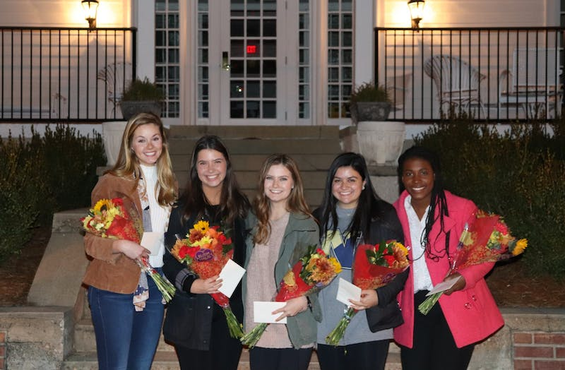 Megan Ondrizek, Maggie Ricks, Cat Bryant, Sasha Cohen and Katie Phelan are nominated for Miss Auburn 2020 at callouts on Nov. 19, 2019, in Auburn, Ala.