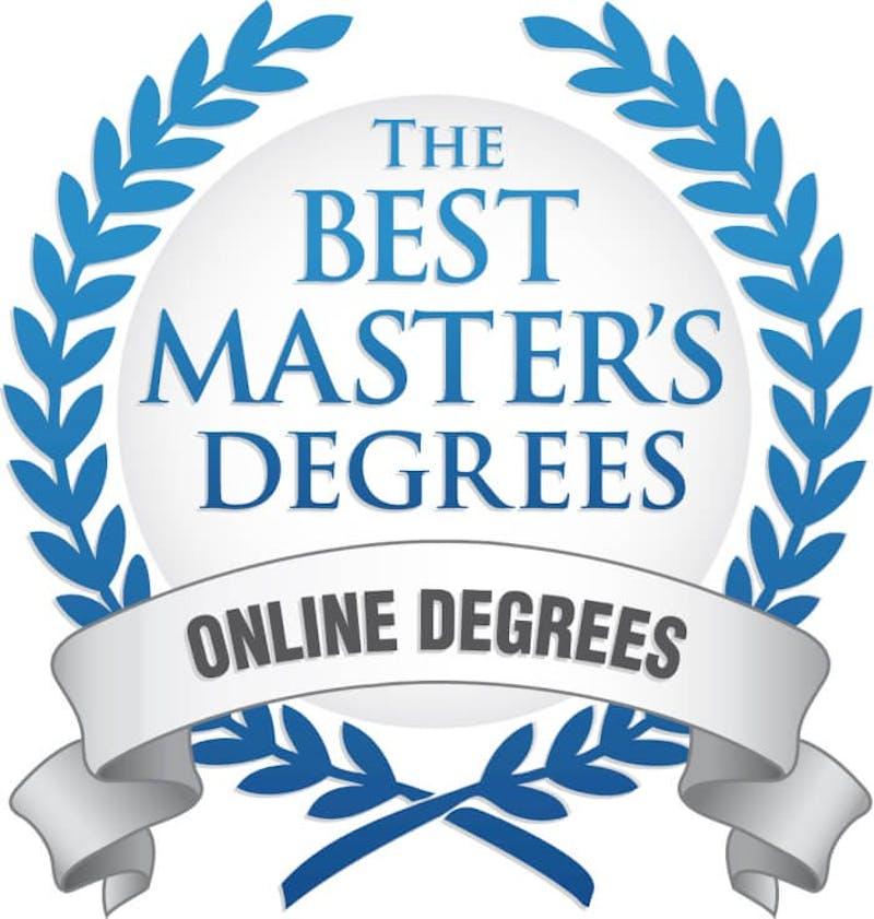 Badge for The Best Master's Degrees for Online Degrees.