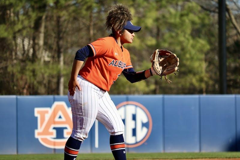 Makenna Dowell (32) during the Auburn Softball vs. Alabama State on Saturday, Feb. 15, 2020, in Auburn, Ala.