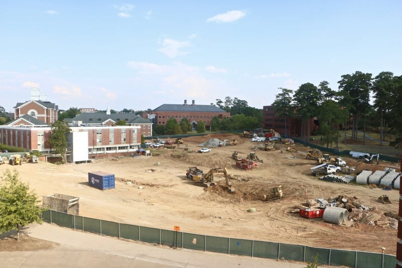 The NPHC Legacy Plaza is currently in construction on Thursday, Oct. 3, 2019, in Auburn, Ala.