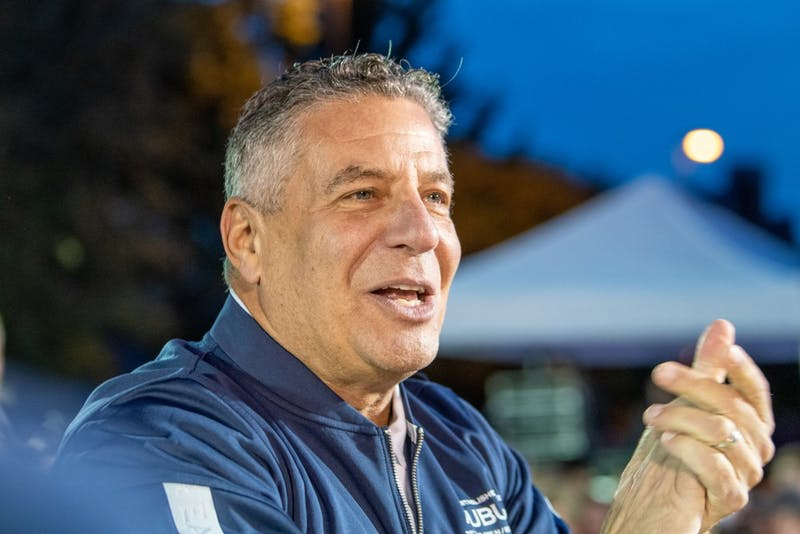 Bruce Pearl claps during Tipoff at Toomer's, on Thursday, Oct. 17, 2019, in Auburn, Ala.