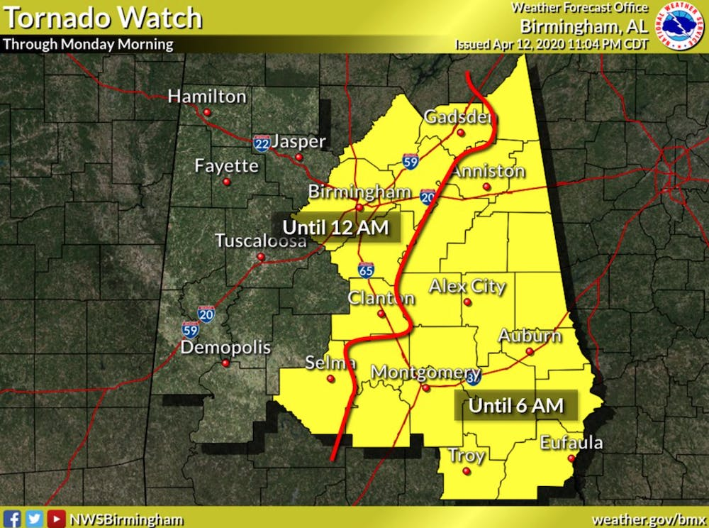 National Weather Service issues tornado watch for Lee County