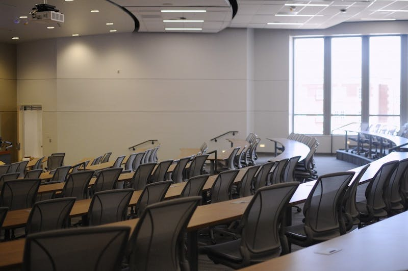 A lecture hall in Mell Street Classroom Building on Wednesday, Aug. 16, 2017 in Auburn, Ala.