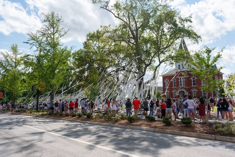 The rolling of Toomer's Corner at the last home game, Saturday, Sept. 26.