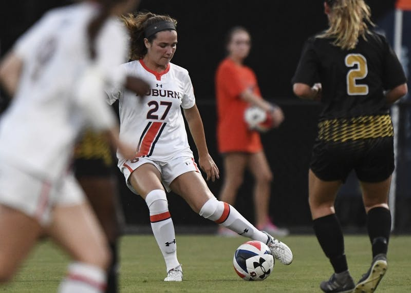 Cami Rogers (27). Auburn Soccer vs  ASU on Sunday, September 16, 2018, in Auburn, Ala.