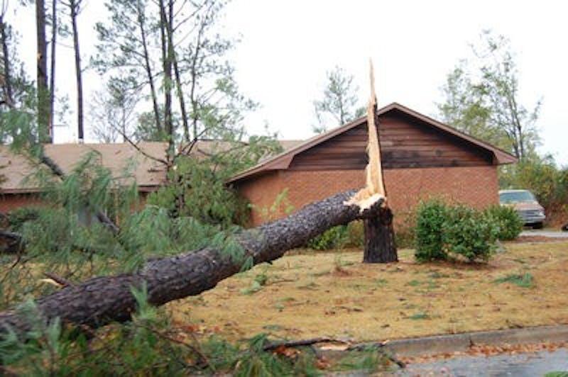 Tornadoes damage Auburn area