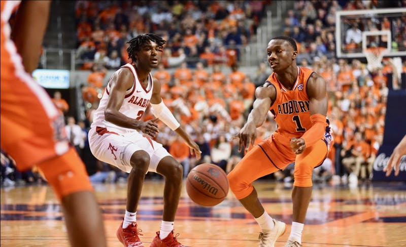 Jared Harper (1) during Auburn Men's Basketball vs. Alabama on Feb. 2, 2019, in Auburn, Ala.