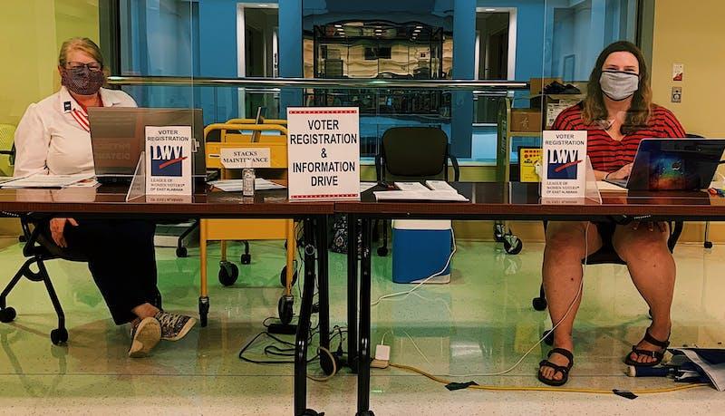 Voter registration in Ralph Brown Draughon Library at Auburn University on Wednesday, Sep. 16, 2020, in Auburn, Ala.