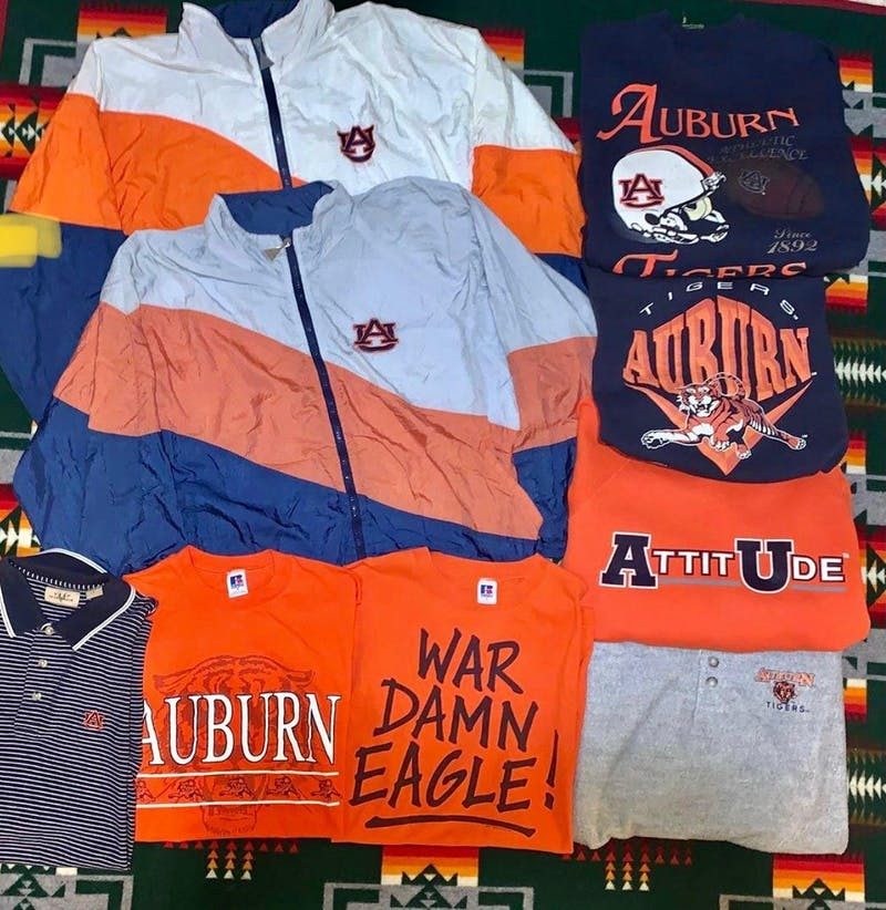 Tucker Brant maintains a consistent theme of Auburn apparel on his Instagram page.