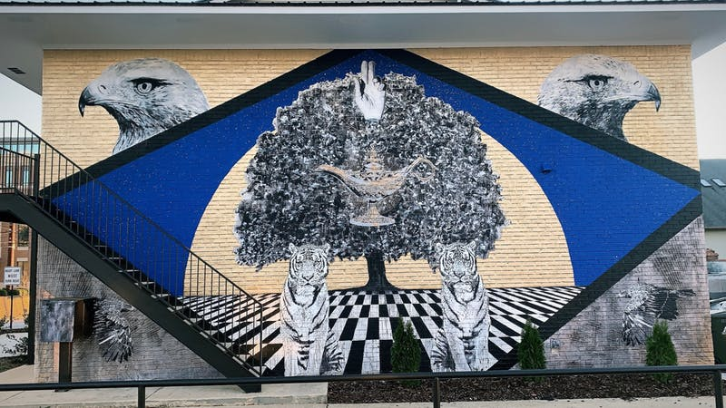 R.C. Hagans mural is located on 123 N. Donahue Drive in Auburn, Ala.