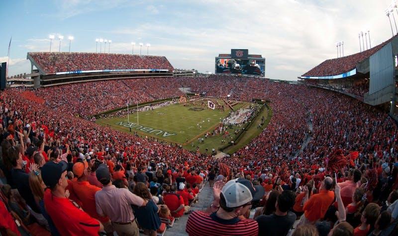 A view of Jordan-Hare Stadium just before kickoff. Auburn vs Arkansas State on Saturday, September 10, 2016 in Auburn, AL.