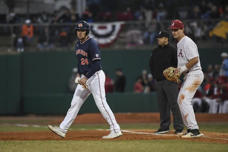 Conor Davis (24). Auburn baseball vs Alabama during the Capital City Classic Tuesday, March 26, 2019, in Montgomery, Ala.