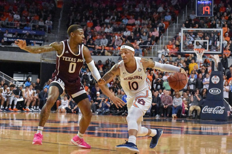 Auburn vs. A&M on Wednesday March 4, in Auburn, Ala.