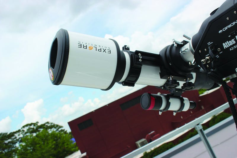 A telescope on the rooftop terrace of the Leach Science Center in Auburn Ala.