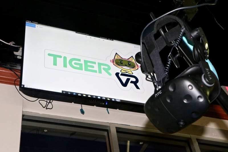 The Tiger VR Cafe is home to a new virtual reality feature Sept. 17, 2019, in Downtown Auburn, Ala.