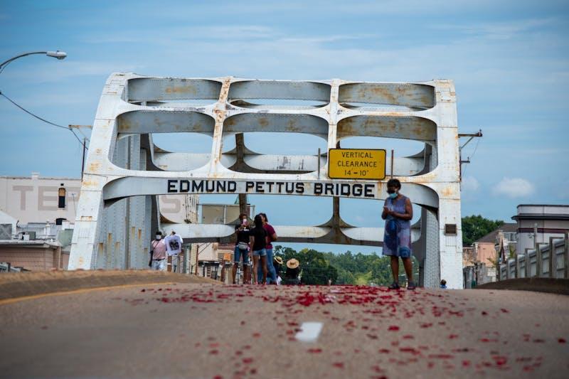 GALLERY | John Lewis's casket crosses Edmund Pettus Bridge | 7.26.20