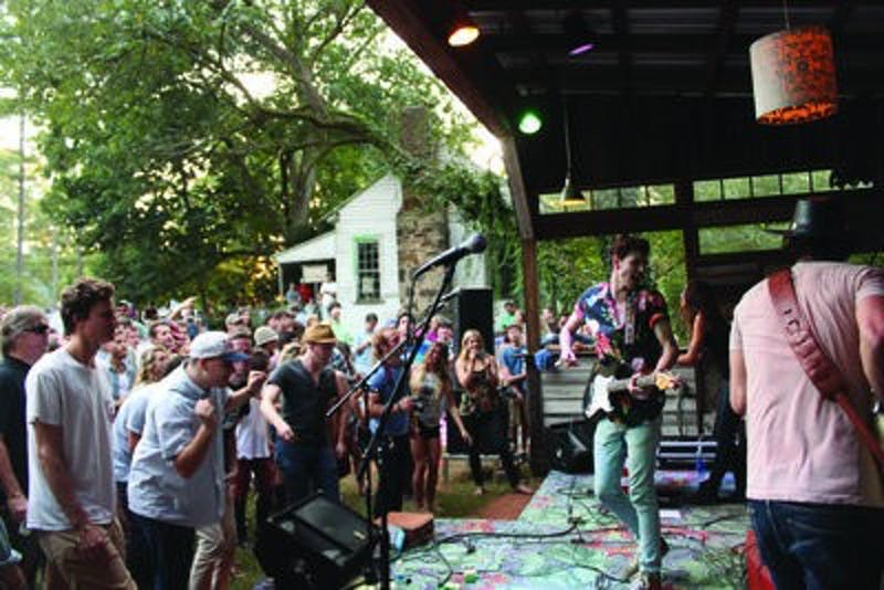 """Matt Myers and Katie Toupin of Houndmouth perform at the Waverly Fall Boogie, some songs from their premiere album such as  """"On the Road,"""" """"Penitentiary"""" and """"Houston Train."""" The following night, the band took the show to Birmingham."""
