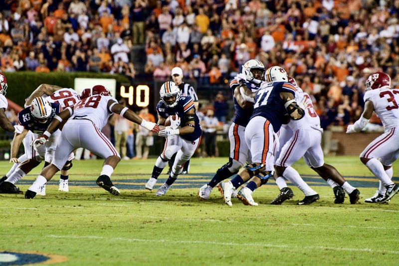 D.J. Williams (3) during the Auburn vs. Alabama game on Saturday, Nov. 30, 2019, in Auburn, Ala.