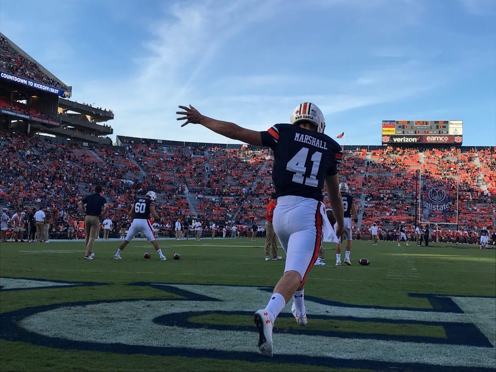 Punter Aidan Marshall leaving Auburn program