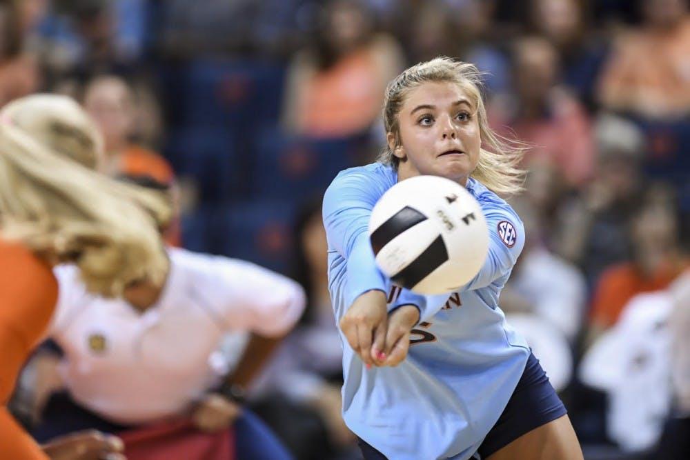 Auburn volleyball splits Friday matches at Kansas Invitational