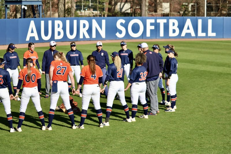 Auburn during the Auburn Softball vs. Alabama State on Saturday, Feb. 15, 2020, in Auburn, Ala.