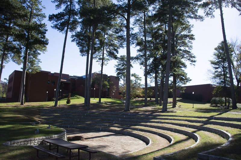 The former Graves Amphitheatre on Auburn's campus on Nov. 20, 2020, in Auburn, Ala.