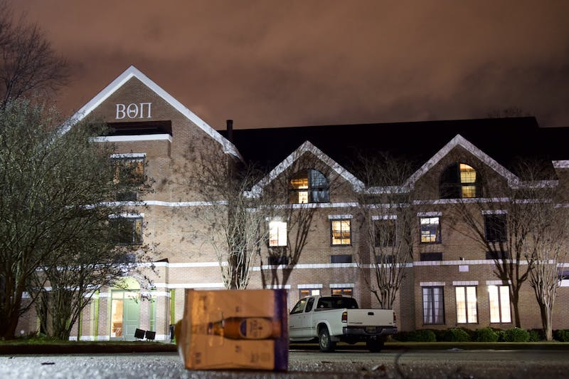 Beta Theta Pi was suspended from the University for violating its anti-hazing policy. All of the members were forced to vacate the house located on Lem Morrison Drive by the end of last year.
