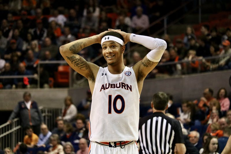 Samir Doughty (10) during the Auburn Men's Basketball vs. Tennessee game on Saturday, Feb. 22, 2020, in Auburn, Ala.