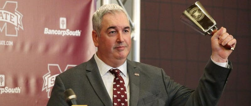Joe Moorhead is in his first year at the helm of Miss State football.
