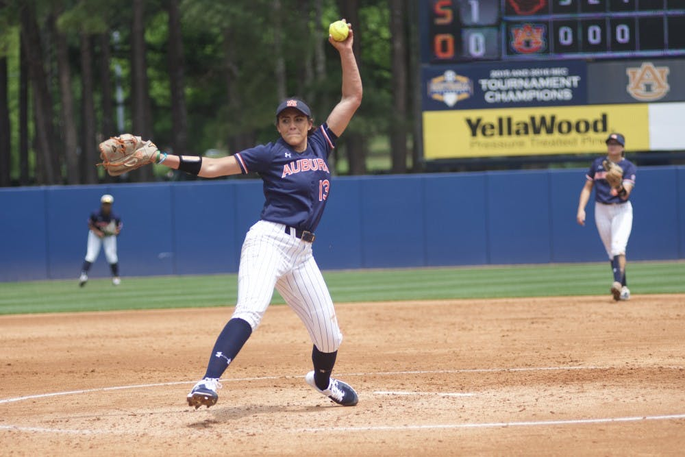 Auburn sophomore Chardonnay Harris named SEC co-Pitcher of the Week