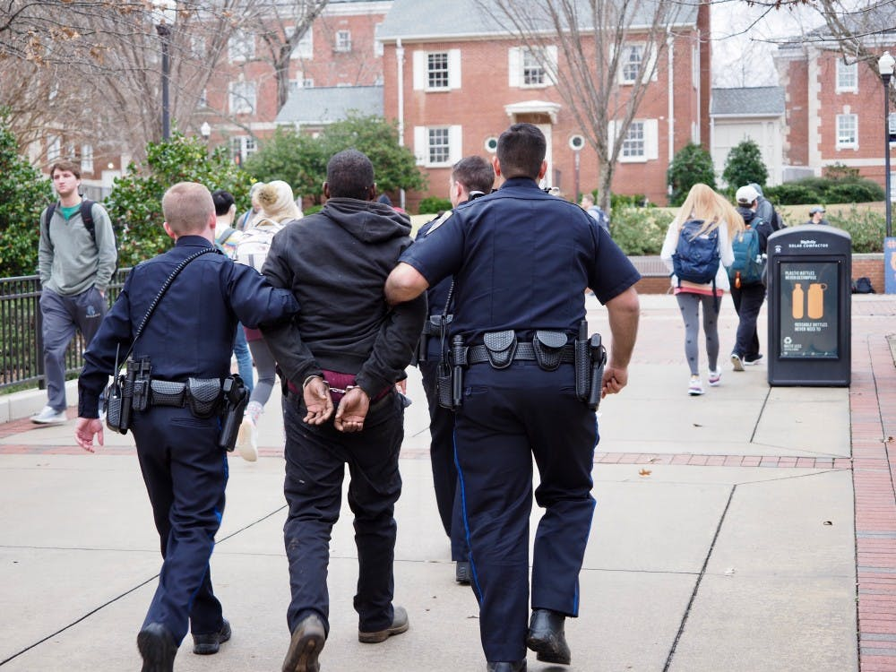 Police identify man arrested Thursday on campus after foot pursuit