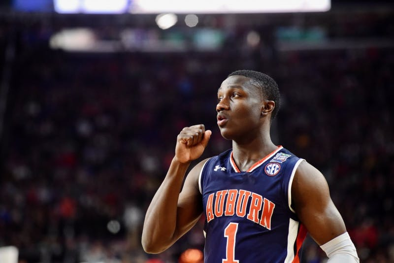 Jared Harper (1) during UVA vs. Auburn on Saturday, April 6, 2019, in Minneapolis, Minn.