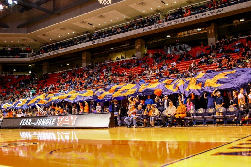 While opposing teams may fear a matchup inside Auburn Arena, fans certainly don't. (Kenny Moss l Assistant Photo Editor)