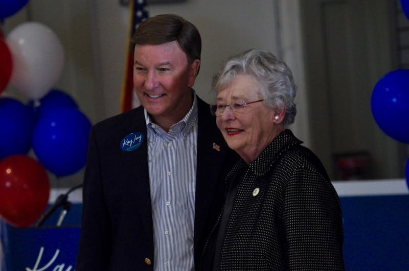 Governor Kay Ivey and Congressman Mike Rogers campaigning at the Red Barn on Saturday, Oct. 27, 2018 in Auburn, Ala.