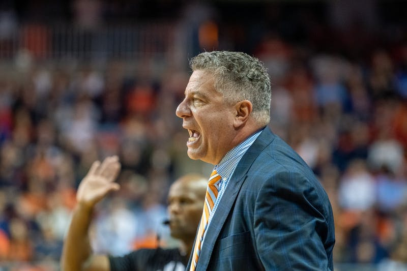 Bruce Pearl yells during Auburn Men's Basketball vs. Georgia, on Saturday, Jan. 11, 2019, in Auburn, Ala.