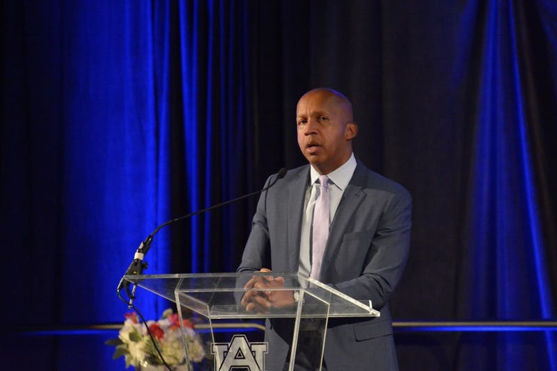 Attorney, author and activist Bryan Stevenson speaks at Auburn University on Jan. 22, 2019.