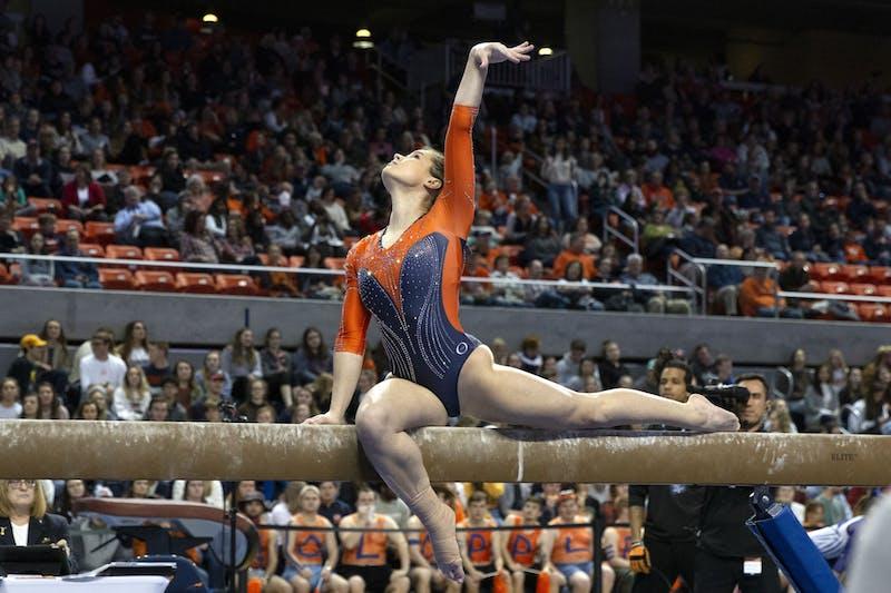 Auburn Gymnast, Piper Smith, on beam during the Auburn v. Kentucky Gymnastics meet in Auburn, AL. on February 7, 2020.