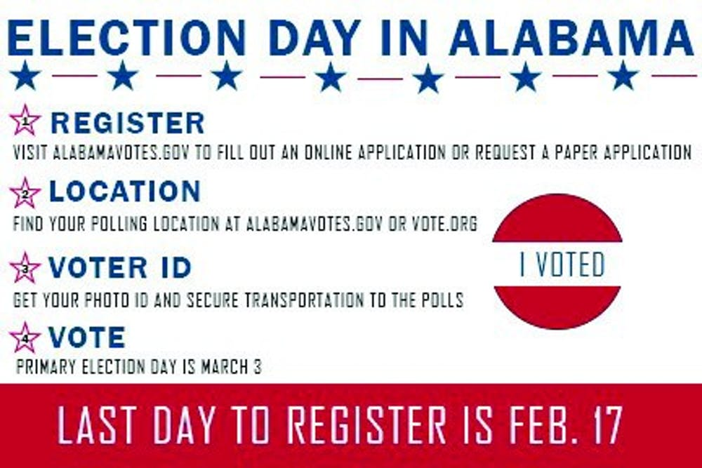 How to register to vote in Auburn