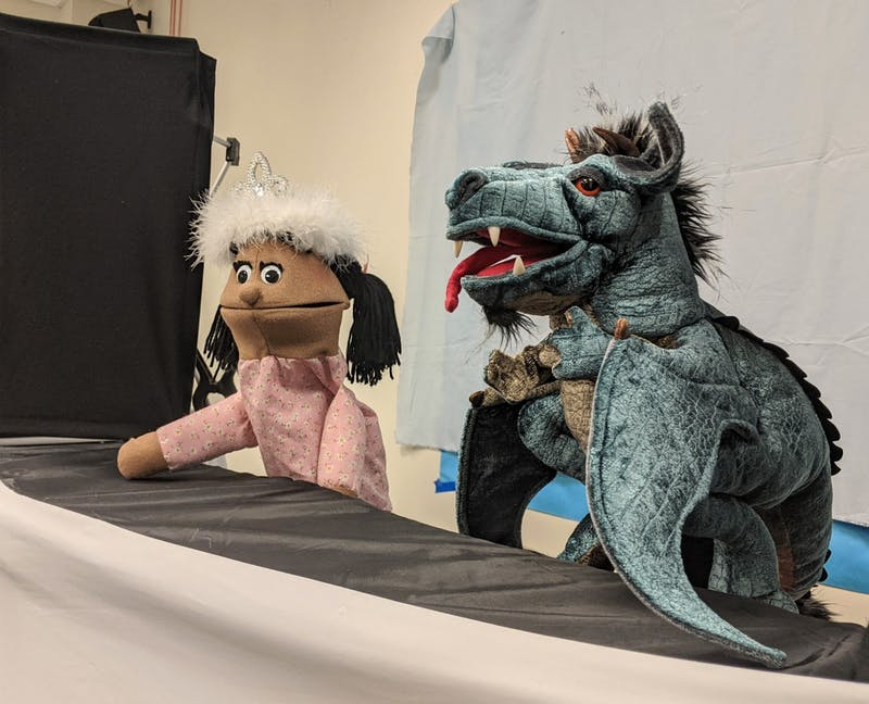 "Two possible puppets for ""The Paper Bag Princess"" performed on Jan. 15, 2021."