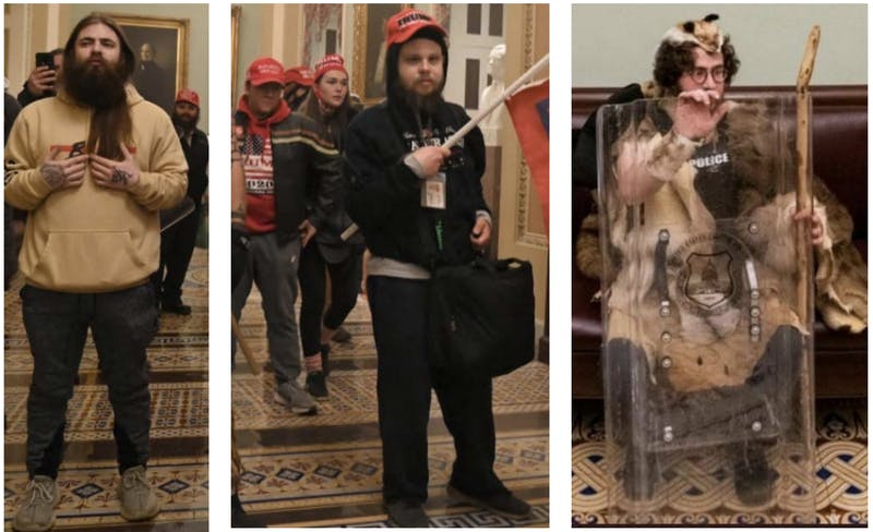 These images, among others, were released by the Metropolitan Police Department of Washington D.C. following the Capitol riot last week. They are asking for any information on the individuals depicted.