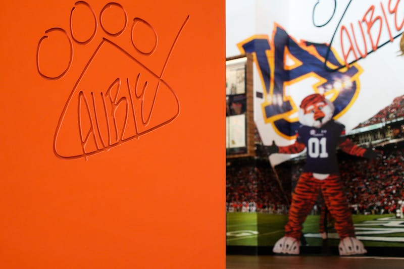 The Aubie Experience on display at the Auburn University Student Center in Auburn, Ala.