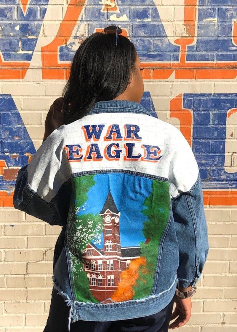 King painted this jacket for herself over the summer.