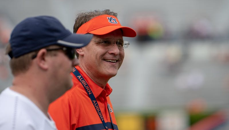 Auburn Coach Gus Malzahn during A-Day 2019, on Saturday, April 13, 2019, in Auburn, Ala.