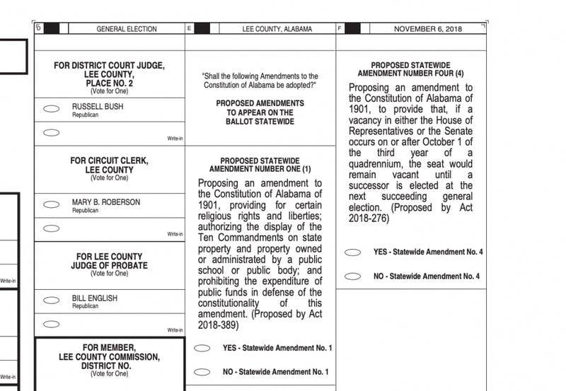 There will be four constitutional amendments on the ballot on Tuesday.