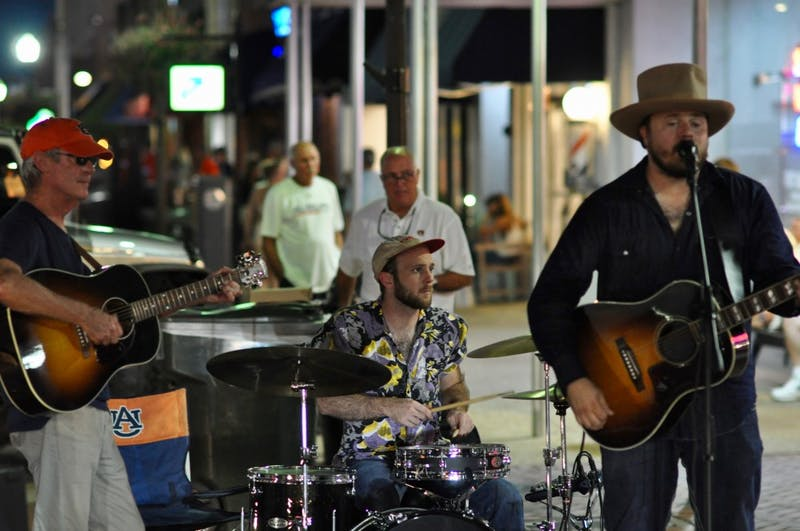 Dallas Dorsey playing at Toomer's Drug's during the Come Home to the Corner event on Friday, Sept. 14, 2018 in Auburn, Ala.
