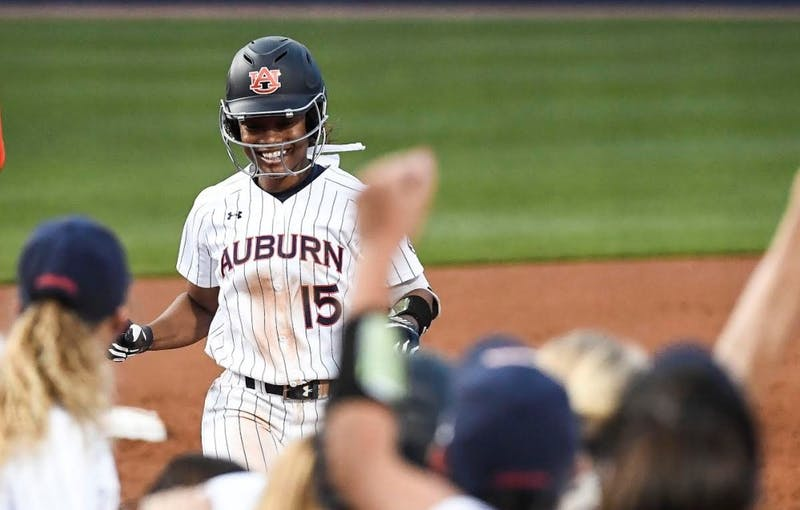 Bree Fornis (15). Softball vs Alabama State on Wednesday, April 17, 2019, in Auburn, Ala.