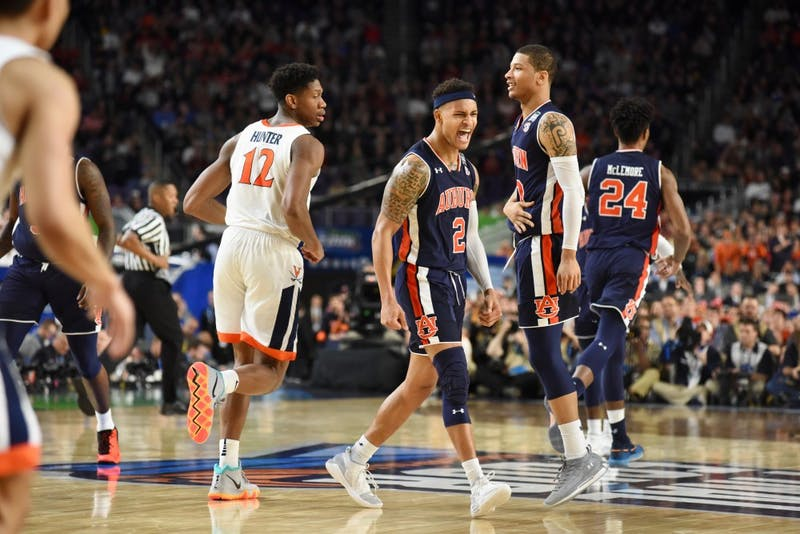 Bryce Brown (2) during UVA vs. Auburn on Saturday, April 6, 2019, in Minneapolis, Minn.